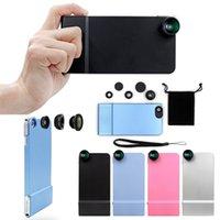 Acheter Fonction de retour-La plus récente combinaison grand angle macro fisheye lentille caméra cas multi-fonction pc hard back cover pour iphone 6 6s 4.7