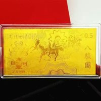 au gold bullion - Prise eight Horse investment collection g grams D Hard Au gold foil mini Bullion gold bar for gift for New Year