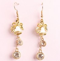 bell earings - New Christmas Jingling Bell Designer Long Earings Ladies Girls Holiday Party Decor Fashion Charm Dangle Chandelier cheap china jewelry Bling