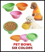 Wholesale 30pcs High Quality Grade Fold Pet Bowl Folding Dog Bowl Pet Food Dish Pet Feeders