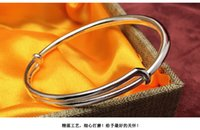 Wholesale 30g simple smooth silver bracelet s999 sterling silver thousand fine silver bracelet gift silver jewelry woman ornament