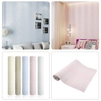 Wholesale New M Home Decor Improvement Modern Non woven Flocking Wallpaper Rolls Hot new arrival