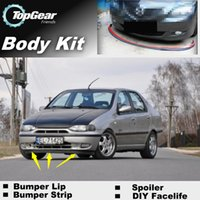 Wholesale Bumper Lip Lips For Fiat Albea Siena Front Skirt Deflector Spoiler For Car Tuning The Stig Recommend Body Kit Strip
