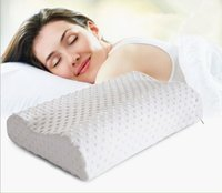 Wholesale Memory Foam Pillow Care New Colors Orthopedic Latex Therapy Neck Pillow Fiber Slow Rebound Memory Foam Pillow CM Cervical Health Care