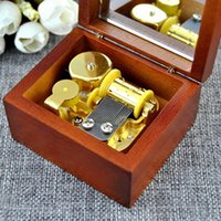 antique music box - Antique Wood Hand Crank Gold Movement Mirror Music Box Castle in the Sky Best Birthday Gift for Friends Elegant Collection Gifts
