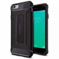 Funda de teléfono celular SGP Neo Rugged armadura caso de una sola capa suave TPU fibra de carbono texturas Protecotr para iPhone 6 6s 6plus 7 7p Samsung S6 Edg7