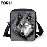 Wholesale New Brand Designers Men Messenger Bags D Zoo Animals Wolf Printed Male Shoulder Bags Cool Pet Dog Husky Cross Body Bags For Boy