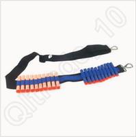 Wholesale 300pcs CCA3684 EVA Bullet Strap Toy Gun Soft Belt Shoulder Strap Clip Charger Darts Ammo Storage For Nerf N Strike Blasters Cartridge Holder