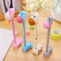 balls donkeys - South Korea creative stationery cute little donkey pen ball pen Gel Ink pen giraffe hippopotamus learning supplies prizes