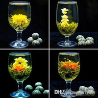 Wholesale 4 Balls Different Handmade Blooming Flower Green Tea Home Wedding Gift ON6 OP3