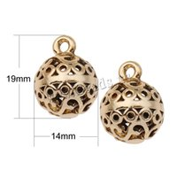 Wholesale Vintage Style real gold plated Hollow Zinc Alloy Round DIY Findings for Bracelet Pendants Accessory