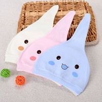 Wholesale 2pcs Baby Hats Newborn Cute Cotton Unisex Boys Girls Smile Infants Wear Beanies Comfortable and Soft Month
