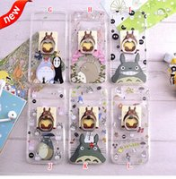 silicone finger cover - Finger Ring Grip Stand Soft TPU Case D Hello Kitty Totoro Clear Cartoon Transparent For Samsung Galaxy S7 EDGE G930 G9350 Skin Cover Luxury