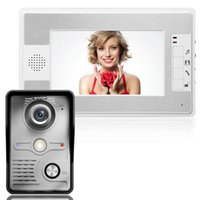 Wholesale 7 inch Color TFT LCD Video Intercom Monitor System Video Door Phone Night Vision Camera without Radiation F1609B