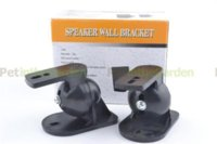 Wholesale 2 x Universal Adjustable Surround Sound Wall Speaker Mount Bracket Black bracket tv speaker wall mount bracket