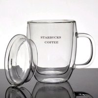 Wholesale New Arrival High Quality ml Starbucks Double Wall Tea Cup Coffee Cup Drinking Glass Mug