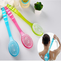 Wholesale Hot sale Long Handled Body Brush Massager Scrub Skin Shower Back Brush Scrubber Health Care helper bathroom product