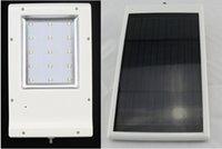 Wholesale 2015 IP55 LED w Ultra thin Waterproof Solar Sensor Wall Street Light Outdoor Garden Lamp