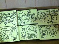 Wholesale On sales cards for Color Sand art_15x21cm diy sand art sticker card