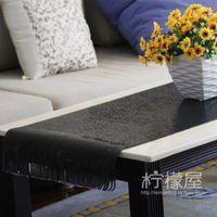 Acheter Feuilles d'aluminium noir-Cadeau en tôle d'aluminium en métal noir frangé cadeau tissu de table couleur cadeau de luxe