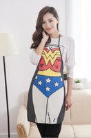 bbq cooking - Women Anime Design Cartoon Character Series Superhero Kitchen Apron Funny Personality Sexy Cooking BBQ Party Aprons