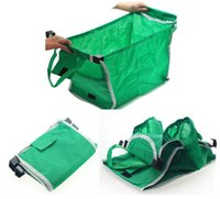folding shopping cart - Creative New Products Non woven shoping bags In The Supermarket Shopping Bags Green Shopping Cart BAG Trolley Folding BAG WITH COLOR BOX