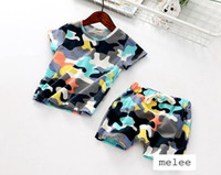 baby printed tshirt - free ship newest Baby camouflage print Suits children girls boys cute vest tshirt tops pants shorts set Children girl outfits Sets