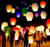 Wholesale Hot Selling Sky Lanterns Wishing Lantern Lotus Lamp Chinese Kongming Lantern Wishing Lamp With Fuel