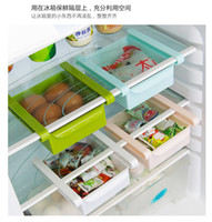 Wholesale Refrigerator fresh spacer layer classification storage rack kitchen drawer glove box plastic food storage boxes Shelves