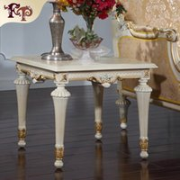 antique wood coffee tables - European style living room furniture Frenchclassic coffee table Italian square table