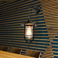 art dock - Loft2 American country creative industrial pastoral wind restoring ancient ways the sitting room dining room bar dock wall lamp Edison bulb