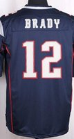 blank football jerseys - NIK Game Stitched Football Patriots Tom Brady Rob Gronkowski Julian Edelman Blank Blue white Red Jerseys Mix Order