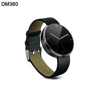 Wholesale Waterproof Wearable Devices DM360 Smart Watch For Android IOS Phones Heart Rate Monitor Fitness Tracker Bluetooth SmartWatch