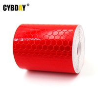 Wholesale 5cmx3m Safety Mark Reflective tape stickers car styling Self Adhesive Warning Tape Automobiles Motorcycle Reflective Film Red H034