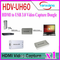 Wholesale 1pcs Seesii HDV UH60 HDMI to USB3 Video Capture Dongle P FPS Capture Box for Windows Linux OS X Systerm YX KK