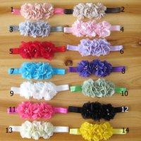baby accessories sale - 2016 hot sale baby newborn headbands baby chiffon flower rhinestone pearl headband children s girls hair accessories