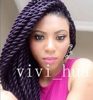 Wholesale X pression QUE JUMBO SENEGAL TWIST X CROCHET BULK BRAIDING HAIR HAVANA MAMBO STYLE inch freen shipping