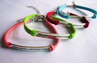 Wholesale 20pcs Where there is a will there is a way Cross Love infinite One Direction bracelets students owl cross The hungry bird bracelets