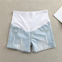 Wholesale New Summer Maternity Shorts Pregnant High Waist Shorts for Pregnancy Solid Denim Shorts for Pregnant Women Pants Capris