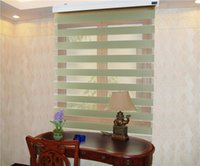 Wholesale Translucent Polyester Zebra Blinds in Dark Coffee Window Curtains for Living Room colors are Available ZD091A