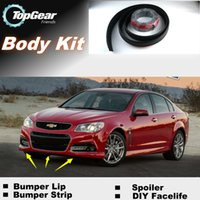 Wholesale For Chevrolet SS Bumper Lip Lips Front Spoiler For TG Fans Car Tuning TOPGEAR For Car Tuning The Stig Recommend Body Kit Strip