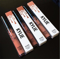 Cheap 2016 Kylie Lip Kit by kylie jenner Lipstick Kylie Lip Gloss liquid lipstick Matte 12 colors lipliner Make up Cosmetic