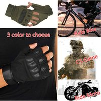 Wholesale Men Half Finger Outdoor Sports Gloves Anti skid Cycling Gloves Wearable Fitness Gloves Shooting Bicycle Motorcross CS Game
