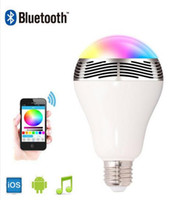 Wholesale Phone Control Colorful Music LED Light Bulb Bluetooth Speaker IN Portable Music Smart RGB Bubble Lamp free ship