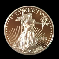 american gold eagle - 5 Non magnetic The American Eagle In God trust Freedom real gold plated Liberty souvenir coin