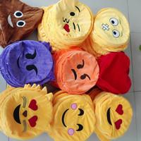 Wholesale New cm inch Emoji Stuffed Animals cartoon emoji Plush Toys Pillow DIY Emoji plush Pillow Whitout Stuffed Cotton Styles