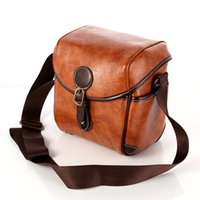 Wholesale Waterproof Vintage PU Leather DSLR Camera Shoulder Bag For Canon Nikon Universal