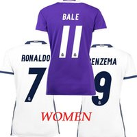Wholesale Top thailand camisa Real madrides female maillot soccer shirt Ronaldo Bale Kroos Morata camisetas de futbol maillot de foot