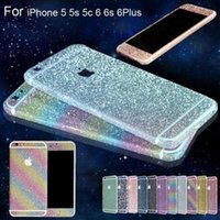 Wholesale Colorful glitter skin Bling Diamond for iPhone S S plus samsung s6 s7 edge CellPhone Full Body shield Shiny insulation sticker