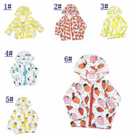 Wholesale 2016 Kids summer Sunscreen Blouses Children holiday Traveling Coats GIRL BOY Sun Protection ins Outwear Prevent bask in clothes With Hood
